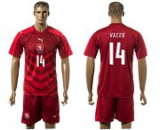 Wholesale Cheap Czech #14 Vacek Red Home Soccer Country Jersey