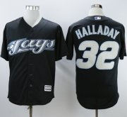 Wholesale Cheap Blue Jays #32 Roy Halladay Black 2008 Turn Back The Clock Stitched MLB Jersey