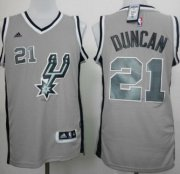 Wholesale Cheap San Antonio Spurs #21 Tim Duncan Revolution 30 Swingman 2014 New Gray Jersey