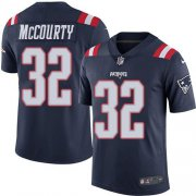 Wholesale Cheap Nike Patriots #32 Devin McCourty Navy Blue Men's Stitched NFL Limited Rush Jersey