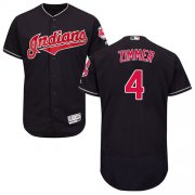Wholesale Cheap Indians #4 Bradley Zimmer Navy Blue Flexbase Authentic Collection Stitched MLB Jersey
