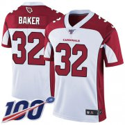 Wholesale Cheap Nike Cardinals #32 Budda Baker White Men's Stitched NFL 100th Season Vapor Limited Jersey