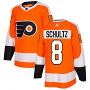 Wholesale Cheap Adidas Flyers #8 Dave Schultz Orange Home Authentic Stitched Youth NHL Jersey