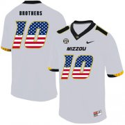 Wholesale Cheap Missouri Tigers 10 Kentrell Brothers White USA Flag Nike College Football Jersey
