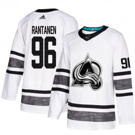 Wholesale Cheap Adidas Avalanche #96 Mikko Rantanen White Authentic 2019 All-Star Stitched NHL Jersey