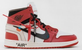 Wholesale Cheap Off White x Air Jordan 1(I) Shoes Chicago Red/Black-White