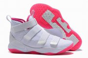 Wholesale Cheap Nike Lebron James Soldier 11 Shoes White Pink Red