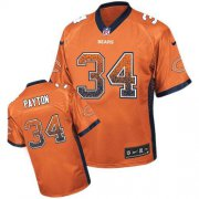 Wholesale Cheap Nike Bears #34 Walter Payton Orange Alternate Men's Stitched NFL Elite Drift Fashion Jersey