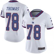 Wholesale Cheap Nike Giants #78 Andrew Thomas White Women's Stitched NFL Limited Rush Jersey
