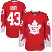 Wholesale Cheap Adidas Maple Leafs #43 Nazem Kadri Red Team Canada Authentic Stitched NHL Jersey