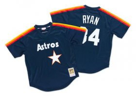 Wholesale Cheap Mitchell And Ness 1988 Astros #34 Nolan Ryan Navy Blue Throwback Stitched MLB Jersey