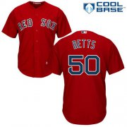 Wholesale Cheap Red Sox #50 Mookie Betts Red Cool Base Stitched Youth MLB Jersey