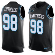 Wholesale Cheap Nike Panthers #98 Star Lotulelei Black Team Color Men's Stitched NFL Limited Tank Top Jersey