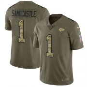 Wholesale Cheap Nike Chiefs #1 Leon Sandcastle Olive/Camo Men's Stitched NFL Limited 2017 Salute To Service Jersey