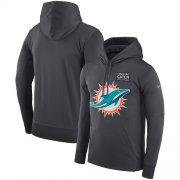 Wholesale Cheap NFL Men's Miami Dolphins Nike Anthracite Crucial Catch Performance Pullover Hoodie