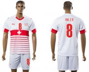 Wholesale Cheap Switzerland #8 Inler Away Soccer Country Jersey