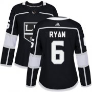 Wholesale Cheap Adidas Kings #6 Joakim Ryan Black Home Authentic Women's Stitched NHL Jersey