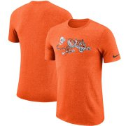 Wholesale Cheap Cincinnati Bengals Nike Marled Historic Logo Performance T-Shirt Heathered Orange