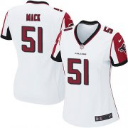 Wholesale Cheap Nike Falcons #51 Alex Mack White Women's Stitched NFL Elite Jersey