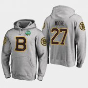 Wholesale Cheap Bruins #27 John Moore Gray 2018 Winter Classic Fanatics Primary Logo Hoodie