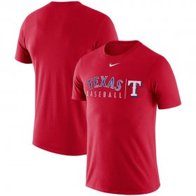 Wholesale Cheap Texas Rangers Nike 2019 Practice T-Shirt Red