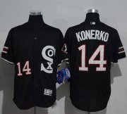 Wholesale Cheap White Sox #14 Paul Konerko Black New Flexbase Authentic Collection Stitched MLB Jersey