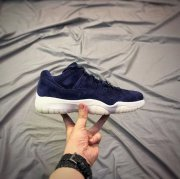 Wholesale Cheap Air Jordan 11 Jeter Re2pect Low Deep Blue/White