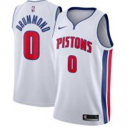 Wholesale Cheap Men's Nike Detroit Pistons #0 Andre Drummond White NBA Swingman Association Edition Jersey