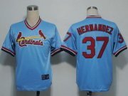 Wholesale Cheap Cardinals #37 Keith Hernandez Blue Cooperstown Throwback Stitched MLB Jersey