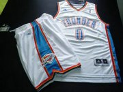 Wholesale Cheap Oklahoma City Thunder 0 THUNDER white Basketball Suit
