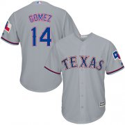 Wholesale Cheap Rangers #14 Carlos Gomez Grey Cool Base Stitched Youth MLB Jersey
