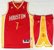 Wholesale Cheap Houston Rockets 7 Jeremy Lin Red Throwback Revolution 30 Swingman Jerseys Shorts NBA Suits