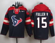 Wholesale Cheap Nike Texans #15 Will Fuller V Navy Blue Player Pullover Hoodie