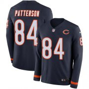Wholesale Cheap Nike Bears #84 Cordarrelle Patterson Navy Blue Team Color Men's Stitched NFL Limited Therma Long Sleeve Jersey