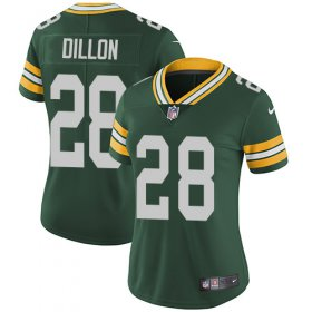 Wholesale Cheap Nike Packers #28 AJ Dillon Green Team Color Women\'s Stitched NFL Vapor Untouchable Limited Jersey