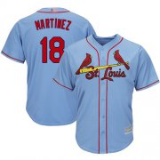 Wholesale Cheap Cardinals #18 Carlos Martinez Light Blue Cool Base Stitched Youth MLB Jersey