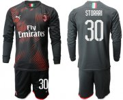 Wholesale Cheap AC Milan #30 Storari Third Long Sleeves Soccer Club Jersey