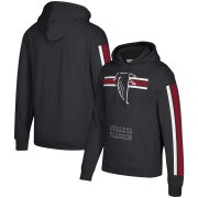 Wholesale Cheap Atlanta Falcons Mitchell & Ness Three Stripe Pullover Hoodie Black