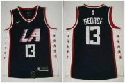 Wholesale Cheap Clippers 13 Paul George Navy City Edition Nike Swingman Jersey