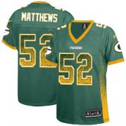 Wholesale Cheap Nike Packers #52 Clay Matthews Green Team Color Women's Stitched NFL Elite Drift Fashion Jersey