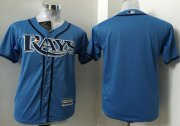 Wholesale Cheap Rays Blank Light Blue Cool Base Stitched Youth MLB Jersey