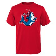 Wholesale Cheap Washington Nationals Majestic Youth 2019 World Series Bound Authentic Collection Rally Shark T-Shirt Red