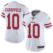 Wholesale Cheap Nike 49ers #10 Jimmy Garoppolo White Women's Stitched NFL Vapor Untouchable Limited Jersey