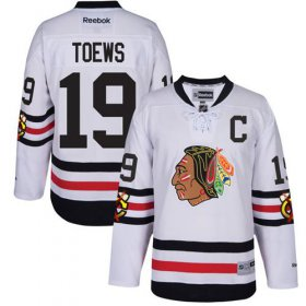 Wholesale Cheap Blackhawks #19 Jonathan Toews White 2017 Winter Classic Stitched Youth NHL Jersey