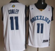 Wholesale Cheap Memphis Grizzlies #11 Mike Conley Revolution 30 Swingman White Jersey
