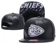Wholesale Cheap NFL Kansas City Chiefs Team Logo Black Snapback Adjustable Hat GS101