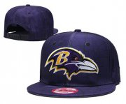 Wholesale Cheap Ravens Team Logo Purple Adjustable Hat TX