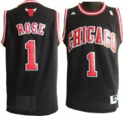 Wholesale Cheap Chicago Bulls #1 Derrick Rose Revolution 30 Swingman Black Jersey