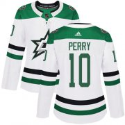 Cheap Adidas Stars #10 Corey Perry White Road Authentic Women's Stitched NHL Jersey