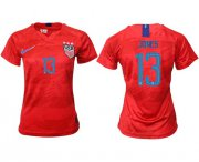 Wholesale Cheap Women's USA #13 Jones Away Soccer Country Jersey